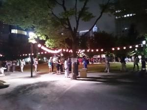 中央区箱崎公園の盆踊り2015